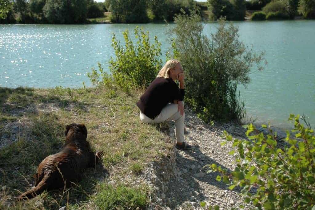 Florence met Helia bij het meer